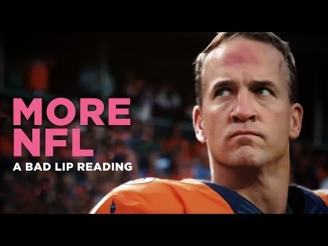 MORE NFL - A Bad Lip Reading of The NFL