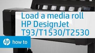 Video hưỡng dẫn lắp giấy cuộn cho máy HP DesignJet T930, T1530, and T2530