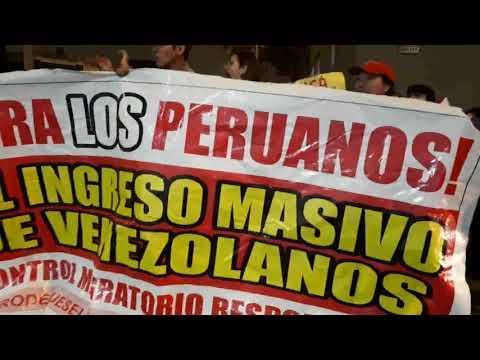 PLANTON en MIGRACIONES PERÚ - El pueblo dice NO MAS VENEZOLANOS