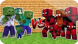 ZOMBİ'NİN AİLESİ VS DEADPOOL'UN AİLESİ ! - Minecraft