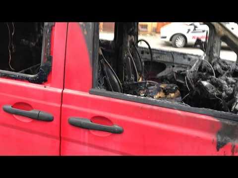 Wideo: Spalony mercedes przy Łokietka w Lubinie