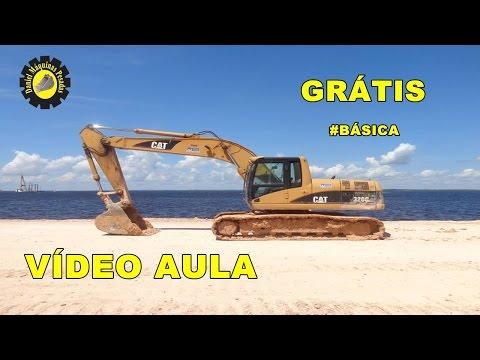 Como operar uma Escavadeira Hidráulica 320 VÍDEO AULA Instrutor Daniel Andrade .