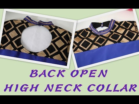 How To Make Back Open High Neck Collar