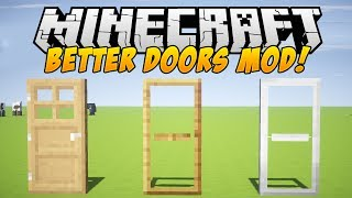 Minecraft Mods - BETTER DOORS MOD! (Malisis Doors Mod) - Mod Showcase