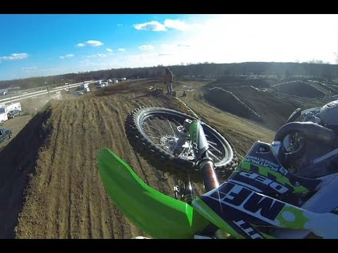 MXPTV - Maryland's Tony Archer takes our helmet cam for a spin during the 2nd 250 A moto during Saturday's action at Raceway Park's Loretta Lynn Northeast Area Quali...