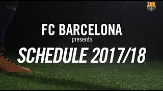 More info: https://www.fcbarcelona.com/football/first-team/schedule----FC Barcelona on Social MediaSubscribe to our official channel http://www.youtube.com/subscription_center?add_user=fcbarcelonaFacebook: http://www.facebook.com/fcbarcelonaTwitter: http://twitter.com/FCBarcelonaGoogle+: http://plus.google.com/+FCBarcelonaInstagram: http://www.instagram.com/FCBarcelona