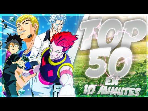 TOP 50 ANIMÉS en 10 MINUTES