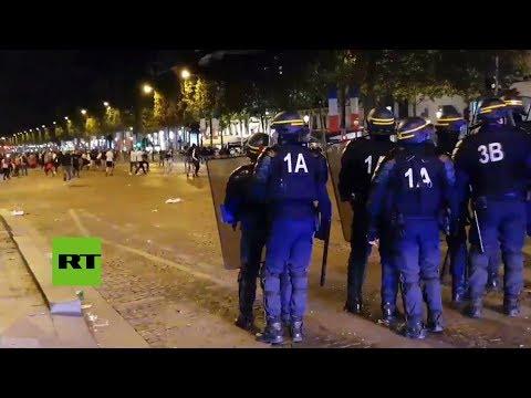 La celebración de la victoria de Francia ante Bélgica genera disturbios en París