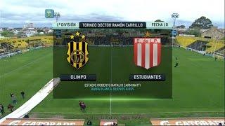 Fútbol En Vivo. Olimpo - Estudiantes. Fecha 10. Torneo Primera División 2014. FPT.