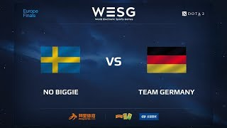 No Biggie vs Team Germany, WESG 2017 Dota 2 European Qualifier Finals