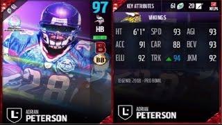 Video Pro Bowl Legend Adrian Peterson | Player Review | Madden 17 Ultimate Team Gameplay MP3, 3GP, MP4, WEBM, AVI, FLV Oktober 2017