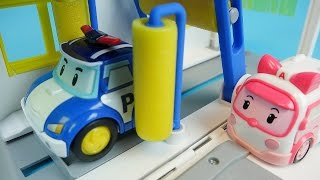 Video Poli car wash Robocar Poli Tayo bus Pororo car toys play MP3, 3GP, MP4, WEBM, AVI, FLV September 2018