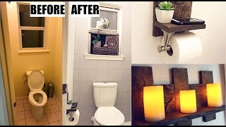 WE REMODELED OUR RESTROOM AND PAINTED OUR TILE! (DIY Small Toilet Room Makeover on a Budget)
