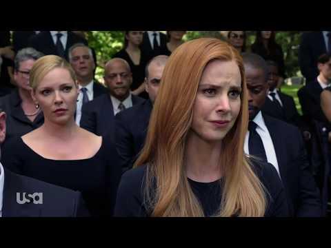Suits S9 E09 - Harvey's mother funeral & his memories