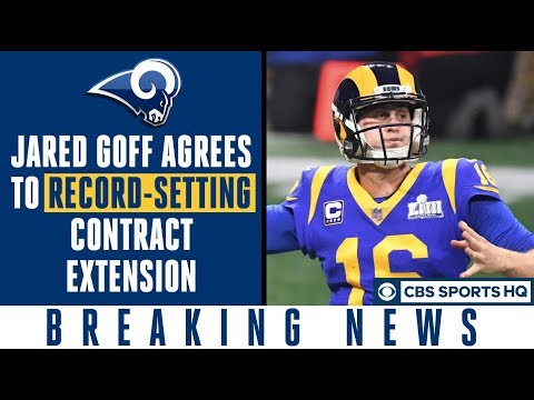 Video: Jared Goff agrees to RECORD-SETTING extension with Rams | CBS Sports HQ