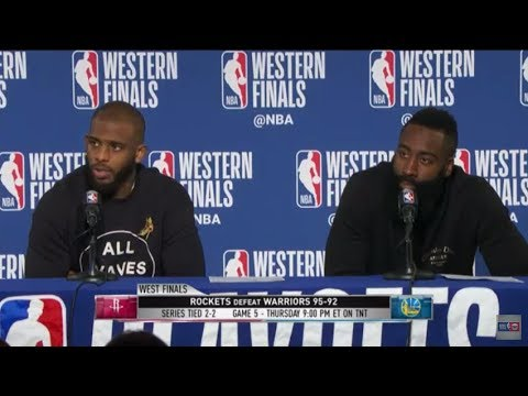 James Harden And Chris Paul | Western Conference Finals Game 4 Press Conference