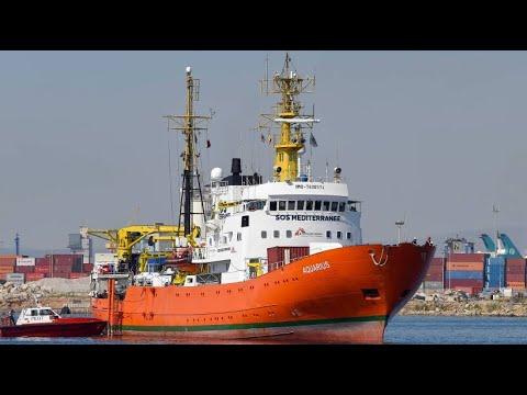 """Spanien: Rettungsschiff """"Aquarius"""" nach tagelanger Ir ..."""