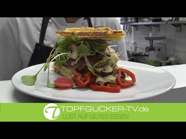 Lamm - Burger in Kartoffelwaffel á la Daniel   Rezeptempfehlung Topfgucker-TV