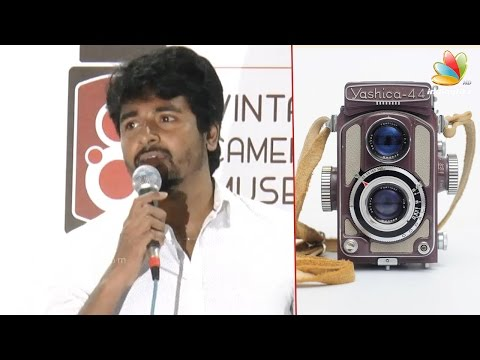 How-to-take-selfie-on-DSLR--Sivakarthikeyan-Speech-at-Vintage-Camera-Museum-Launch
