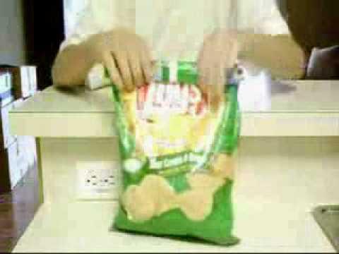 คลิป สอน วิธีปิดถุงขนม ที่ยังกินไม่หมด