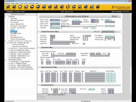 Tax Professional - This presentation walks you through the completion of a basic 1040 tax return in CrossLink Professional Tax Software. Follow us: www.facebook.com/CrossLinkTa...