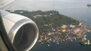 Sorong Indonesia  city pictures gallery : Landing in Sorong, Papua-Indonesia. Batavia Air Boeing 737-300