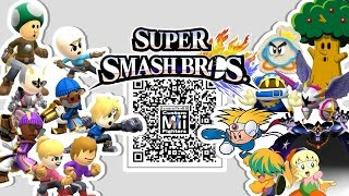 Knuckle Joe, Galacta Knight, Prince Fluff, and MORE!! – Mii Fighter QR Codes for Smash Bros