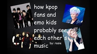 Video how kpop fans and emo kids probably react to each other's music MP3, 3GP, MP4, WEBM, AVI, FLV Juli 2018