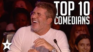 Video TOP 10 Funniest Comedians That Made SIMON COWELL Laugh on AGT & BGT | Got Talent Global MP3, 3GP, MP4, WEBM, AVI, FLV Desember 2018