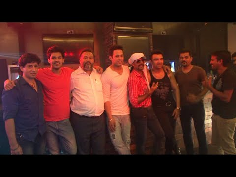 Ajaz Khan And Sahil Anand At Song Shoot Of Film Love Day