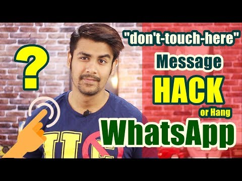 "Whatsapp ""don't-touch-here"" Hack ? Virus ? Explained 