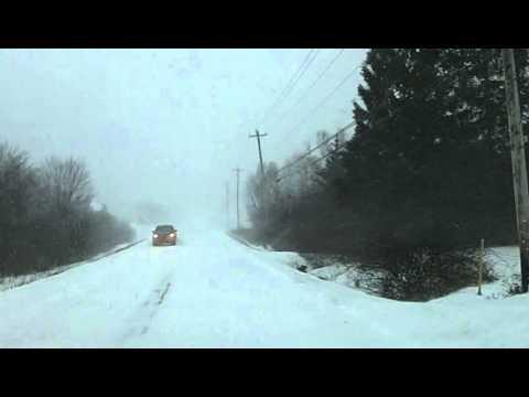 Winter Storm in Meteghan, Nova Scotia - Jan 3rd 2014 - 9:30am