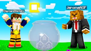 WARPING My Friends HOUSE In A Fish Bowl In Minecraft Troll Pack | JeromeASF
