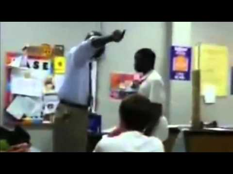 teacher student - THIS IS A VIDEO OF A TEACHER PUTTING A KID IN HIS PLACE.
