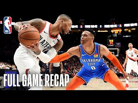 Download THUNDER vs TRAIL BLAZERS | Damian Lillard Takes Over in the 4th | Game 1 HD Mp4 3GP Video and MP3