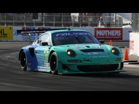Team Falken Tire Porsche 911 GT3 RSR Race Car @ ALMS Long Beach Grand Prix