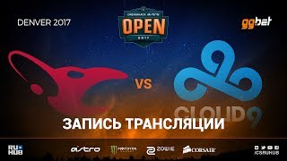 mousesports vs Cloud9 - Dreamhack Denver - map1 - de_cobblestone [sleepsomewhile, MintGod]