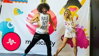 DANCE CHALLENGE AT MUSICALLY WITH REDFOO FROM LMFAO  DAY 144