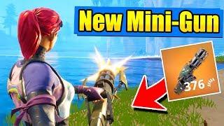 The *NEW* LEGENDARY MINI-GUN! (Fortnite Battle Royale)