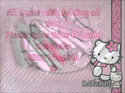 Hello Kitty  3D origami model