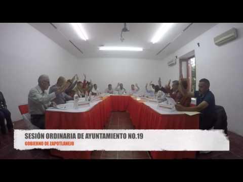Sesión Ordinaria No. 19 de Ayuntamiento 25 de agosto de 2016