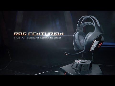 ASUS ROG 7.1 Centurion gamer mikrofonos fejhallgató, fekete