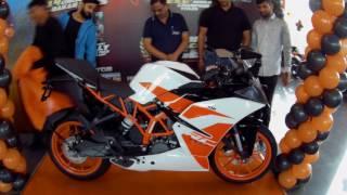 KTM RC 200 2017 Launch Event Jaipur | Exhaust Note | Walkaround