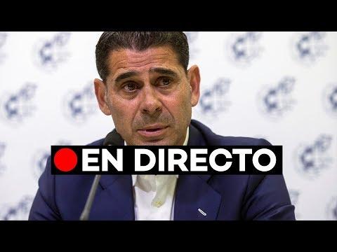 Directo: Fernando Hierro nuevo seleccionador de la roja