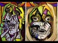 Pablo Picasso - The Weeping Woman - Face Painting Tutorial - Halloween Makeup Tutorial 2013