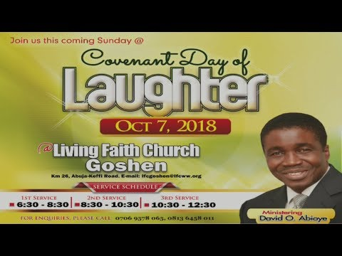 Anointing For Laughter (1st Service) October 07, 2018