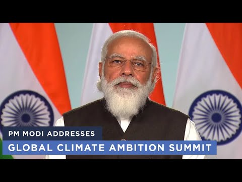 PM Modi addresses Global Climate Ambition Summit