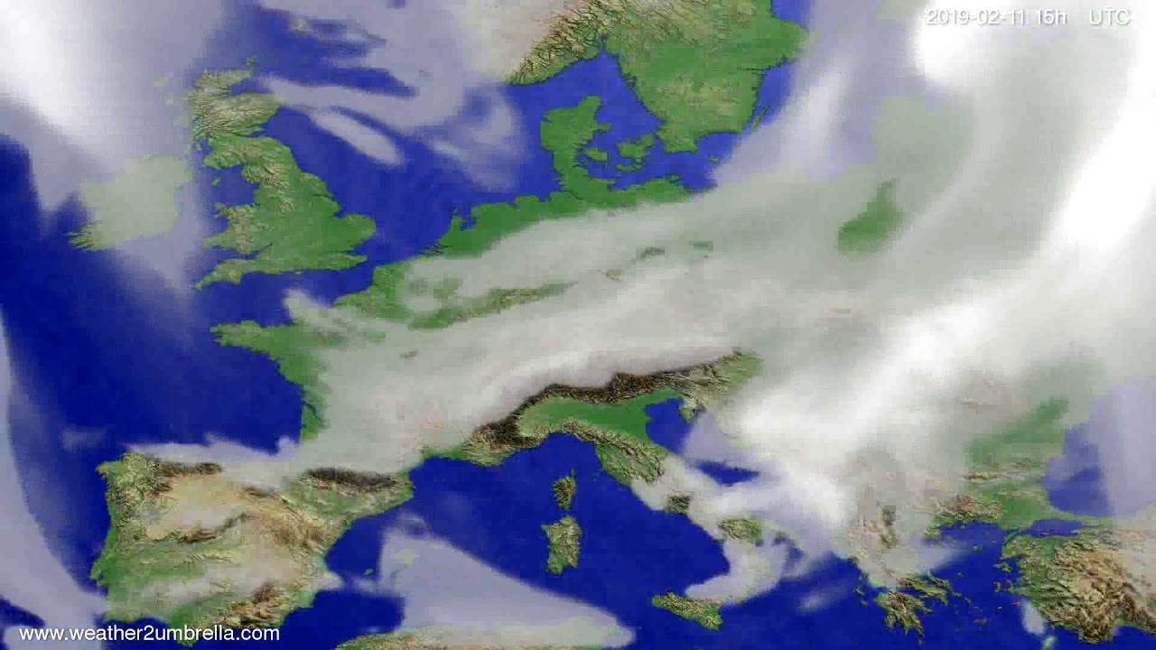 Cloud forecast Europe 2019-02-09