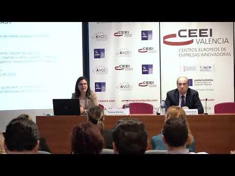 Teresa García, directora general de Emprendimiento, en la jornada de ayudas de 2020 en CEEI Valencia[;;;][;;;]