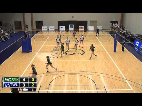 2015-01-30 TWU Women's Volleyball Highlights vs Saskatchewan